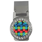Vibrant Retro Pattern Money Clips (CZ)  Front