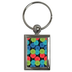 Vibrant Retro Pattern Key Chains (Rectangle)