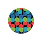 Vibrant Retro Pattern Magnet 3  (Round) Front