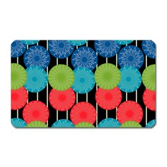 Vibrant Retro Pattern Magnet (rectangular)