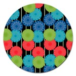 Vibrant Retro Pattern Magnet 5  (Round) Front