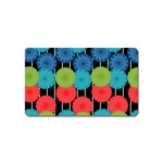 Vibrant Retro Pattern Magnet (Name Card) Front