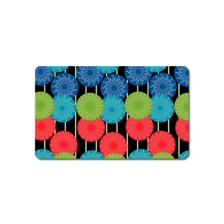 Vibrant Retro Pattern Magnet (Name Card)