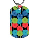 Vibrant Retro Pattern Dog Tag (Two Sides) Front