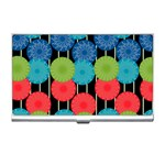 Vibrant Retro Pattern Business Card Holders Front