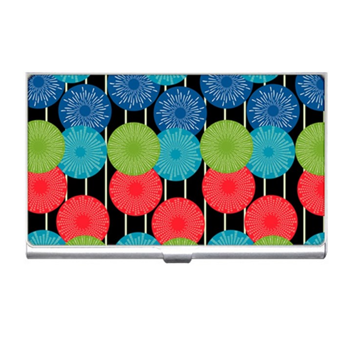 Vibrant Retro Pattern Business Card Holders