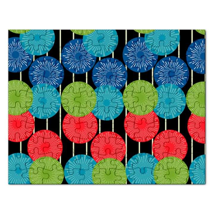 Vibrant Retro Pattern Rectangular Jigsaw Puzzl