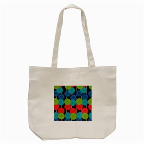 Vibrant Retro Pattern Tote Bag (Cream)