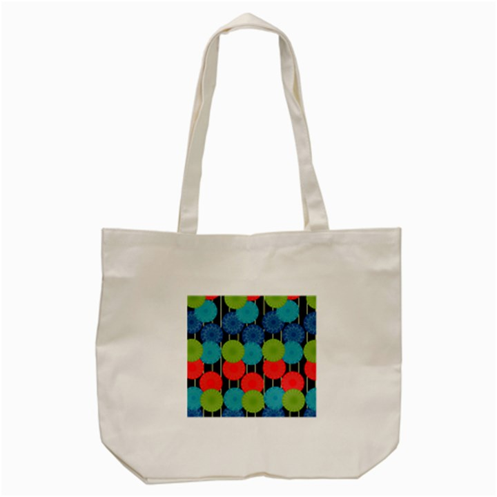 Vibrant Retro Pattern Tote Bag (Cream)