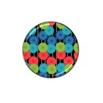 Vibrant Retro Pattern Hat Clip Ball Marker (4 pack) Front