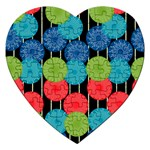 Vibrant Retro Pattern Jigsaw Puzzle (Heart) Front