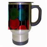 Vibrant Retro Pattern Travel Mug (Silver Gray) Right