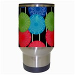 Vibrant Retro Pattern Travel Mugs (White) Center