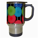 Vibrant Retro Pattern Travel Mugs (White) Right