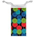 Vibrant Retro Pattern Jewelry Bags Back