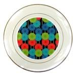Vibrant Retro Pattern Porcelain Plates Front