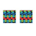 Vibrant Retro Pattern Cufflinks (Square) Front