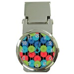 Vibrant Retro Pattern Money Clip Watches Front