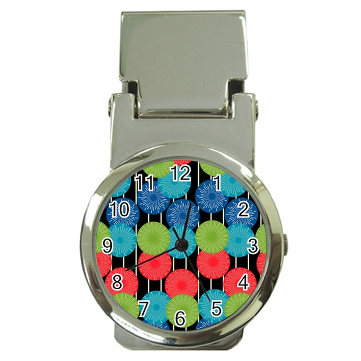 Vibrant Retro Pattern Money Clip Watches