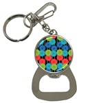 Vibrant Retro Pattern Bottle Opener Key Chains Front