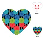 Vibrant Retro Pattern Playing Cards (Heart)  Front