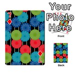Vibrant Retro Pattern Playing Cards 54 Designs  Front - Diamond7