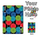 Vibrant Retro Pattern Playing Cards 54 Designs  Front - Spade6