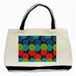 Vibrant Retro Pattern Basic Tote Bag Front
