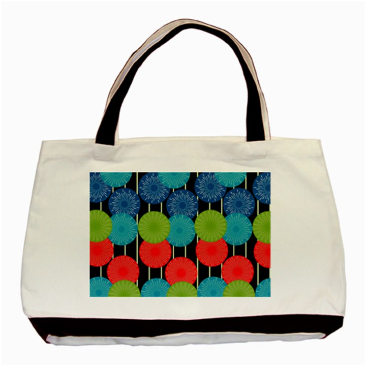 Vibrant Retro Pattern Basic Tote Bag