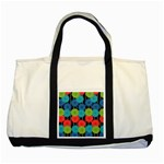 Vibrant Retro Pattern Two Tone Tote Bag Front
