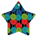Vibrant Retro Pattern Star Ornament (Two Sides)  Back