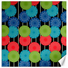 Vibrant Retro Pattern Canvas 12  x 12