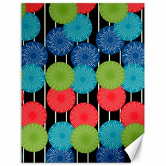 Vibrant Retro Pattern Canvas 12  x 16
