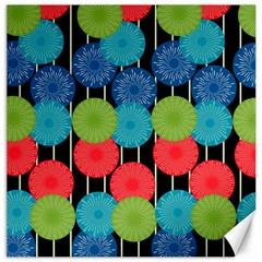 Vibrant Retro Pattern Canvas 16  X 16