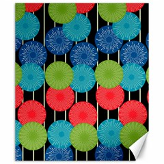 Vibrant Retro Pattern Canvas 20  X 24