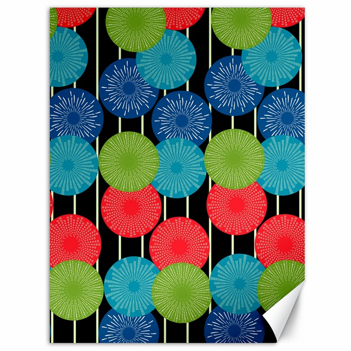 Vibrant Retro Pattern Canvas 36  x 48