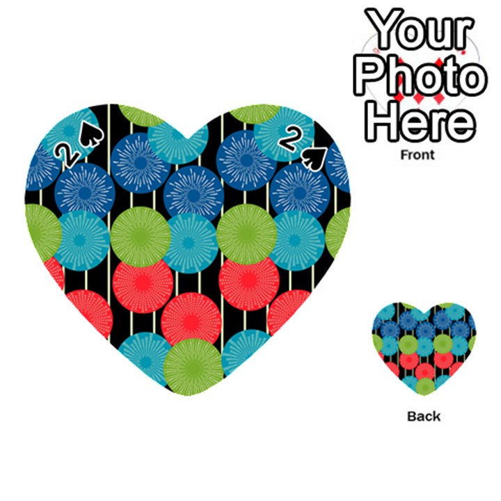 Vibrant Retro Pattern Playing Cards 54 (Heart)