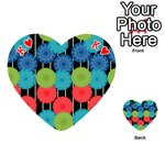 Vibrant Retro Pattern Playing Cards 54 (Heart)  Front - HeartK