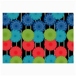 Vibrant Retro Pattern Large Glasses Cloth (2-Side) Back