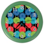 Vibrant Retro Pattern Color Wall Clocks Front
