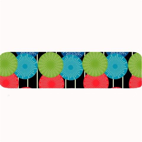 Vibrant Retro Pattern Large Bar Mats