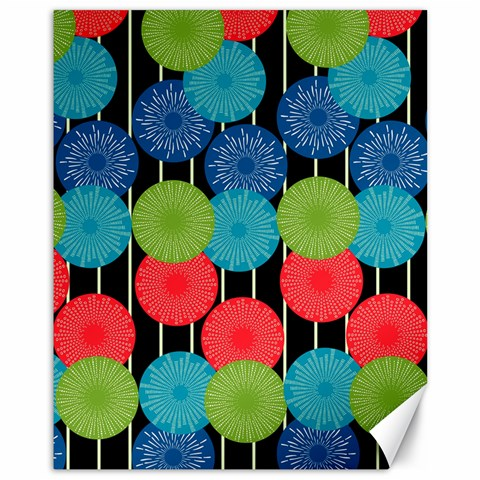 Vibrant Retro Pattern Canvas 11  x 14