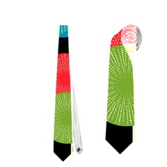 Vibrant Retro Pattern Neckties (one Side)