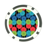 Vibrant Retro Pattern Poker Chip Card Guards Front