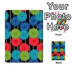 Vibrant Retro Pattern Multi-purpose Cards (Rectangle)  Back 33