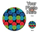 Vibrant Retro Pattern Multi-purpose Cards (Round)  Back 21