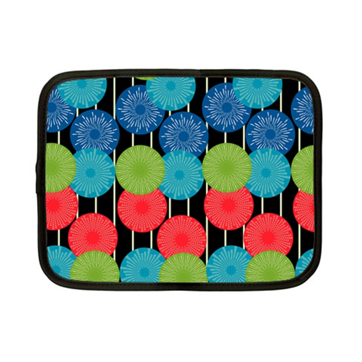 Vibrant Retro Pattern Netbook Case (Small)
