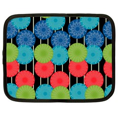 Vibrant Retro Pattern Netbook Case (Large)