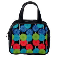 Vibrant Retro Pattern Classic Handbags (One Side)