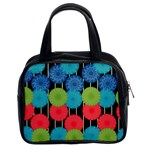 Vibrant Retro Pattern Classic Handbags (2 Sides) Front